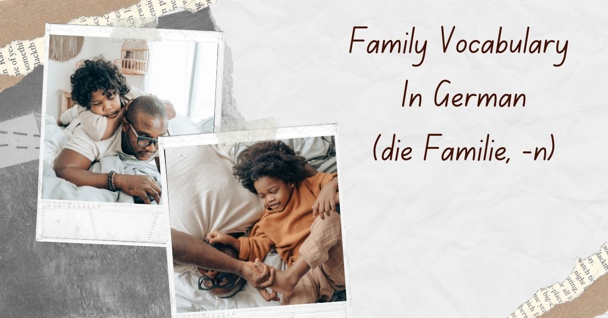 Family Vocabulary In German